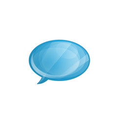 glossy speech bubble icon isolated on white vector image