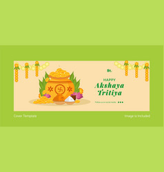 Happy akshaya tritiya cover page vector