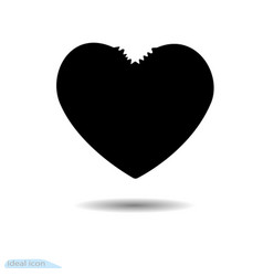 heart icon a symbol of love valentine s day vector image