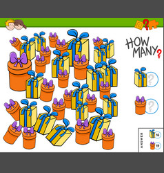 How many presents or gifts educational task vector