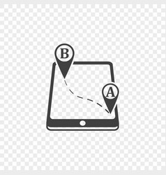 Icon mobile application for navigational vector