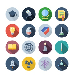 icons for science vector image