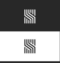 initial s letter monogram linear pattern black vector image