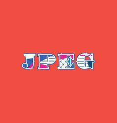 Jpeg concept word art vector