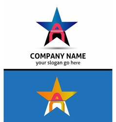 Letter A Logo Icon vector
