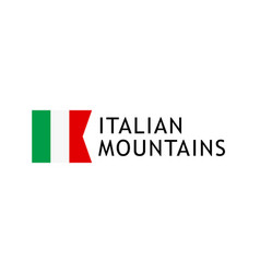 logotype template for tours to italian alpine vector image