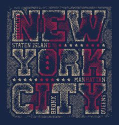 new york tee print with city streets vector image