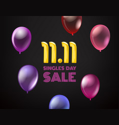 November 11 singles day sale banner vector