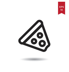 pizza icon vector image