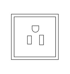 plug socket thin line icon vector image