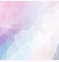Polygonal square background pastel pink blue vector