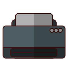 Printer machine icon vector