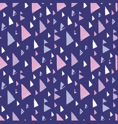 purple pink tribal triangles repeat pattern design vector image