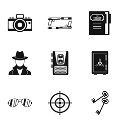 Scout icons set simple style vector