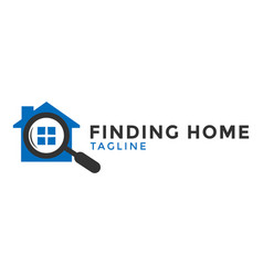search home logo icon design template vector image