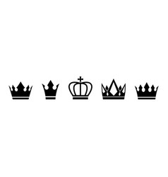 Set crown vector
