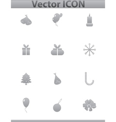 set icons birthday and celebration vector image