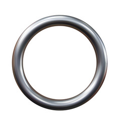 silver metal ring isolated on white background vector image