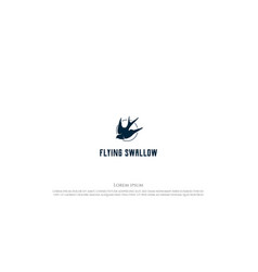 simple minimalist flying swallow martin martlet vector image