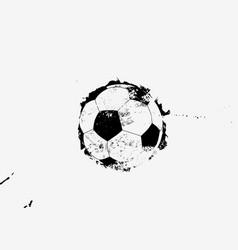 Soccer black and white vintage grunge design vector