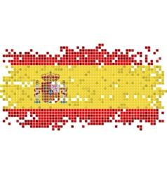 Spanish grunge tile flag vector image