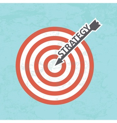 Strategy concept vector