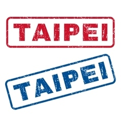 Taipei Rubber Stamps vector