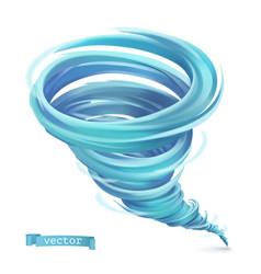 Tornado hurricane 3d icon vector
