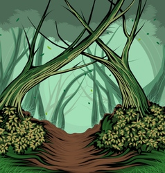 Trees and forest vector