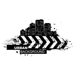 urban background abstract silhouette city vector image
