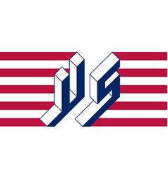 Us - international 2-letter code or national vector