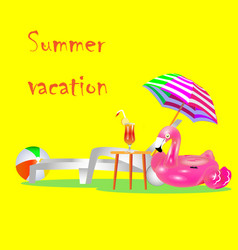vacation travel vacation beach umbrella beach vector image