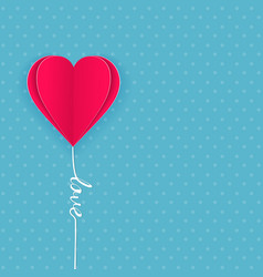 valentine day card with hearts paper vector image