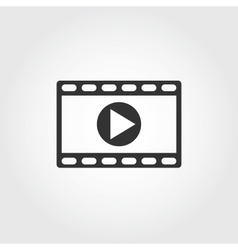 video icon flat design vector image