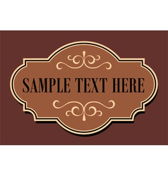 Vintage Sign vector image