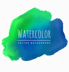 watercolor blue green stain background vector image