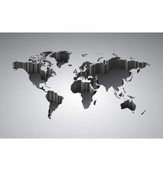 World map with 3d-effect vector