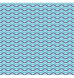 Blue ocean waves marine seamless pattern vector image