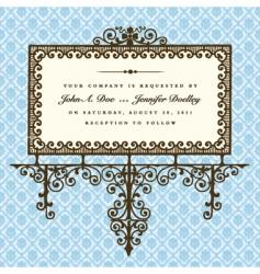 elegant sign vector image vector image
