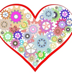 Heart of gear vector image vector image