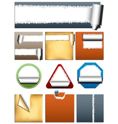 Rippedd Paper vector image
