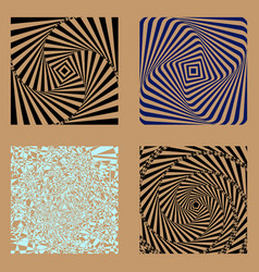 set of four images for the background vector image
