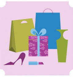 shopping design elements vector image vector image