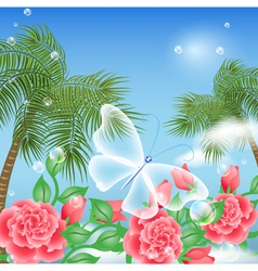 Tropical Island Summer vector image vector image