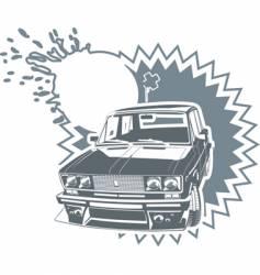 Tuning lada car vector