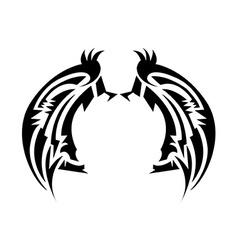 Wings tatoo vector image