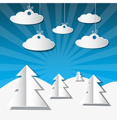 Winter Scene Made from Paper vector image
