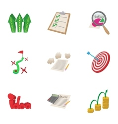 Analytics icons set cartoon style vector image vector image