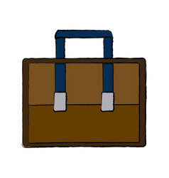 case business accessory bag handle icon vector image vector image