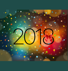 happy new 2018 year greeting card design template vector image vector image